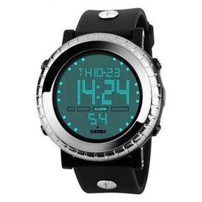 Relógio Masculino Skmei Digital 1172 -preto E Prata Original