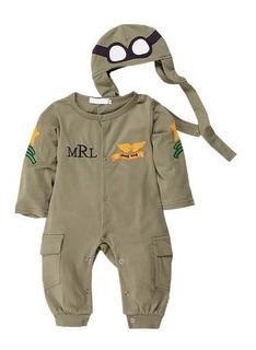 Mameluco Traje Piloto Bebe