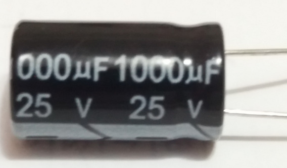 Capacitor Eletrolítico 1000uf X 25v 105 10 Pçs