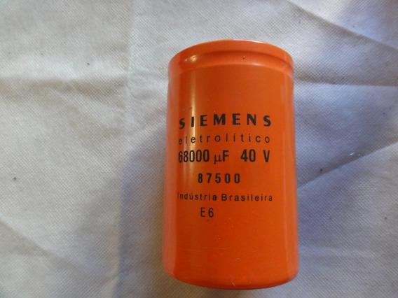 Capacitor Siemens Electrolitico 68000 Mf 40v
