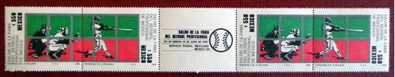 México, Tira Horizontal Sc. 1617a Beisbol 1989 Mint L7556