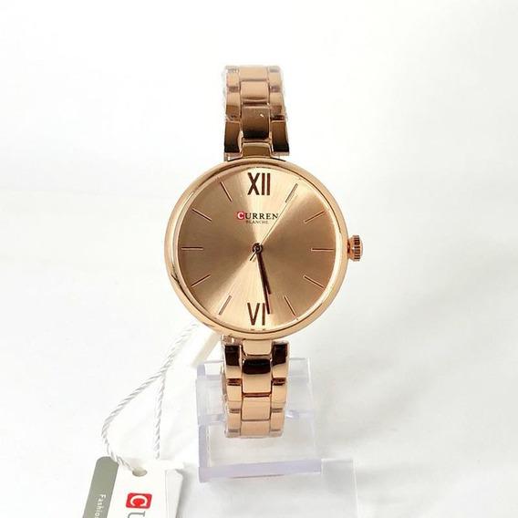Relógio Feminino Rose Curren 9017 Elegante