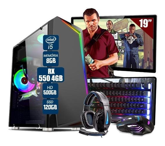 Pc Gamer Thargon Intel I5 Rx 460 8gb Hd 500gb Ssd 120gb