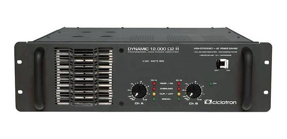 Amplificador Estéreo 2 Canais 3000w Dynamic 12000 Ciclotron