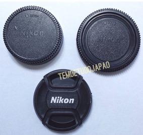 Kit 3 Tampa Nikon 52mm 18-55mm D40 D50 D60 D70 D100 D200 Ø52
