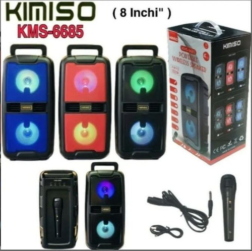 Caixa De Som Kimiso 1200w- Microfone/ Wirelles  Kms-6685