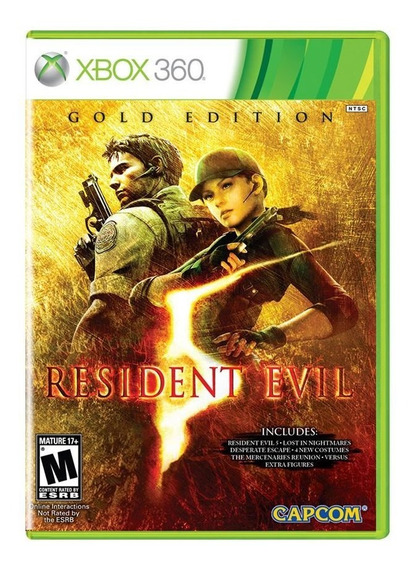 Resident Evil 5 Gold Edition Xbox 360 Midia Fisica