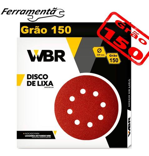 Imagem 1 de 4 de Disco Lixa 225mm Lixadeira De Teto C/10 Un Original Wbr 150