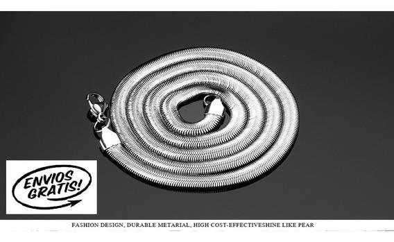 Corrente Colar De Aço Inoxidável 316l Estilo Cobra 6mmx60cm
