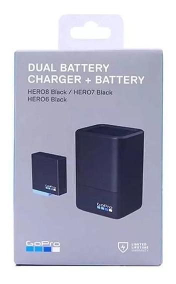 Carregador Dual Bateria Para Gopro Hero 8/7/6 Black Ajdbd001