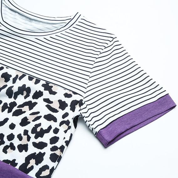 Las Mujeres De La Moda Impreso Camiseta Más El Tamaño De L