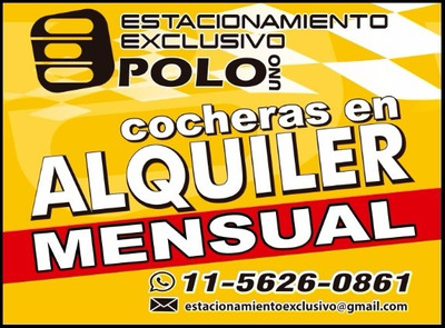 Cocheras En Alquiler En Polo Uno Pilar - Colección