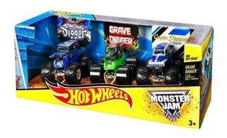 Los Estilos De Paquete 3 De Hot Wheels Monster Jam Puede Aaa