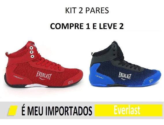 Kit 2 Tênis Bota Botinha Masculino Everlast Crossft Treino