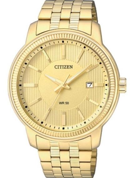 Relogio Citizen Masculino Dourado Com Calendário Tz20500g