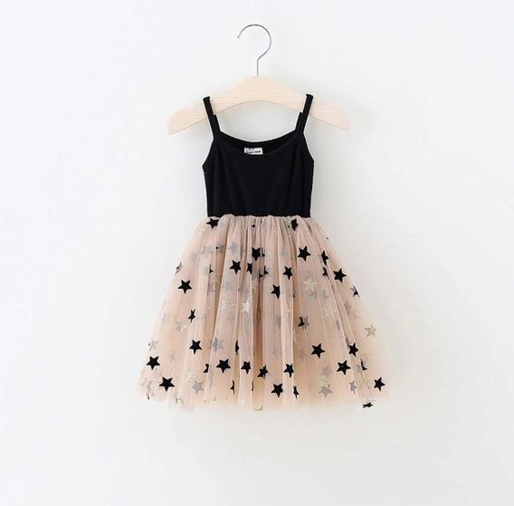Vestido Bebé Niña Casual Estrellas