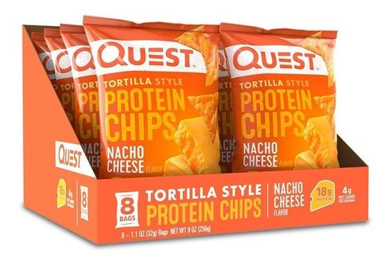 Chips De Proteína Quest Sabor Nachos Con Queso