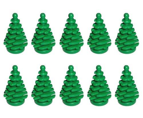 Imagen 1 de 1 de Lego Nuevo 10 Pces Pino Verde Pequeño 2x2x4 Planta Ciudad De