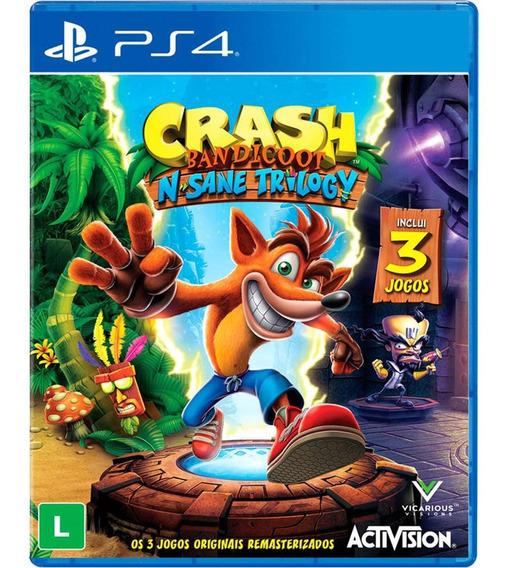 Crash Bandicoot N. Sane Trilogy Ps4 Mídia Física Lacrada