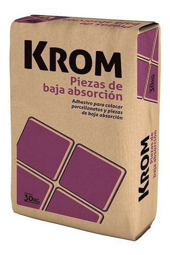 Imagen 1 de 6 de Adhesivo Krom Baja Absorción Porcellanato 30kg Klaukol
