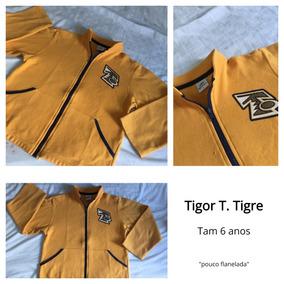 Blusa Tigor T. Tigre 6 Anos Pouco Flanelada Com Ziper Menino