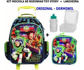 Kit Mochila De Rodinhas Toy Story + Lancheira Dermiwil