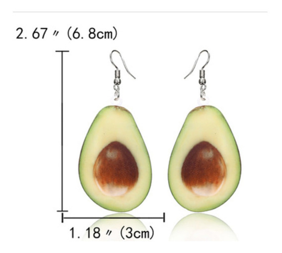 Aretes Par Aguacate Avocado Kawaii Regalo Guacamole Original