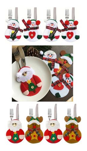 8 Unds Calcetines Decorativas Navideños Navidad Cubiertos