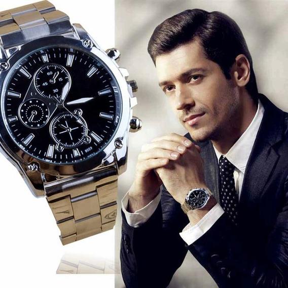 Relógio Pulso Masculino Original Pulseira Aço Inoxidável
