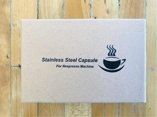 Conjunto De Duas Cápsulas Reutilizáveis Nespresso E Tamper