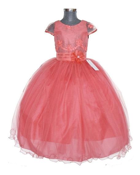 Vestido Niña Presentacion Clausuras Kinder Paje Mod Rosy