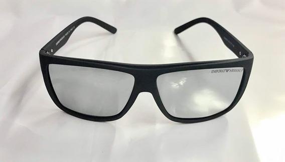 Óculos Masculino Polarizado Emporio Armani Prata 400 Uv