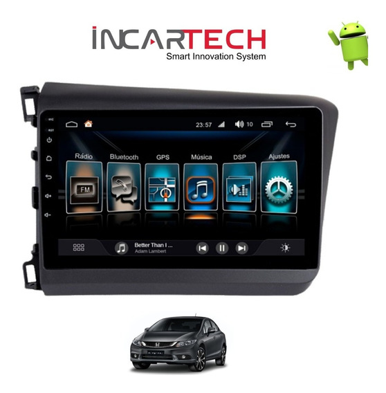 Central Multimídia Android Civic 2015/2016 Painel Preto
