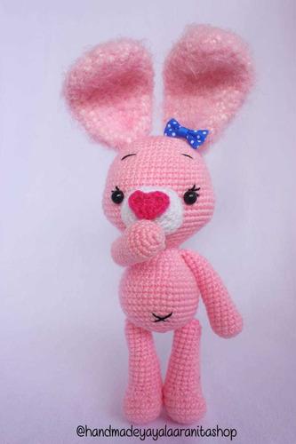 Amigurumi Conejita Crochet Zootopia Bunny Regalo Playboy Pin