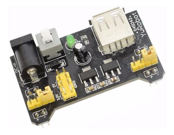 Fonte Alimentação 3.3v 5v Mb102 Protoboard Arduino Pic