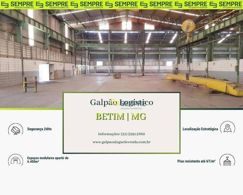 Imagem 1 de 22 de Galpão Industrial / Logístico 6.400 M² Com Ponte Rolante E Balança Rodoviaria - Ga1250