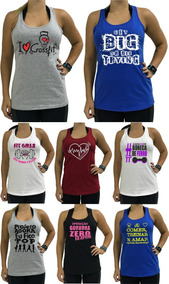 8 Regata Feminina Blusa Caveira Camisa Nadador Longa Slim