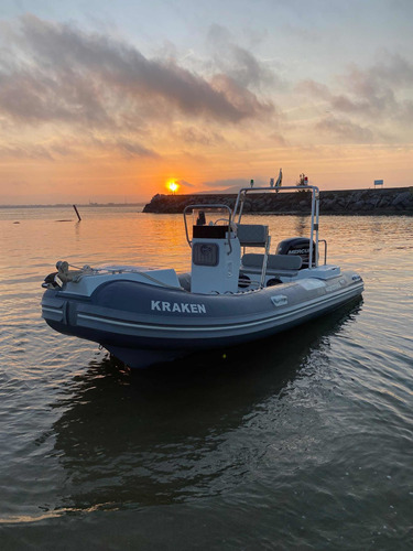 Barco Inflavel Gamper 500 Hypalon Motor Mercur 100hp 4t 2019