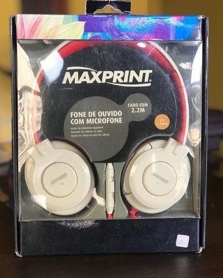 Fone De Ouvido Com Microfone - Maxprint