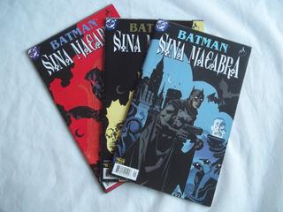 Gibi Hq Dc Batman Sina Macabra Série Completa 3 Volumes