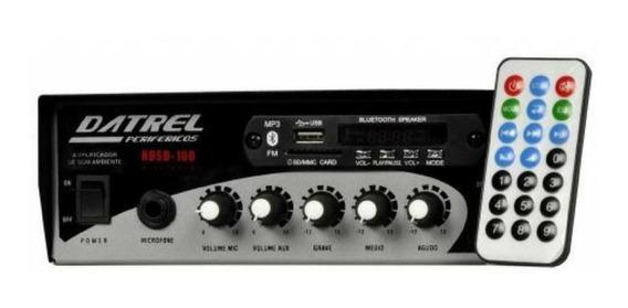 Amplificador Receiver Hds100 Som Ambiente 100w Rms