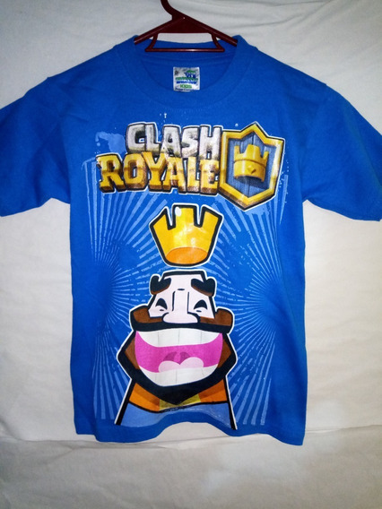 Playera Clash Royale Talla 6-8 Mediana Niño