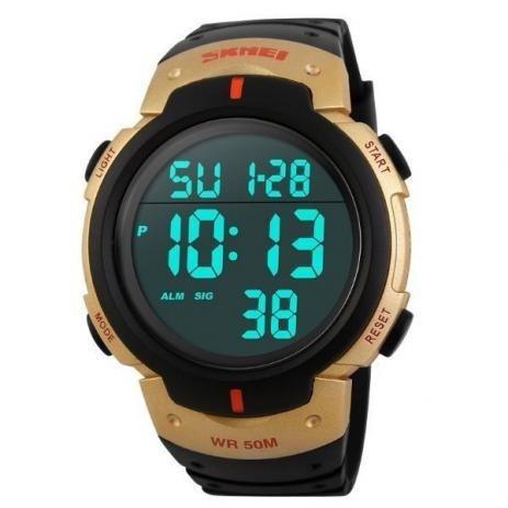 Relógio Skmei 1068 Digital Dourado