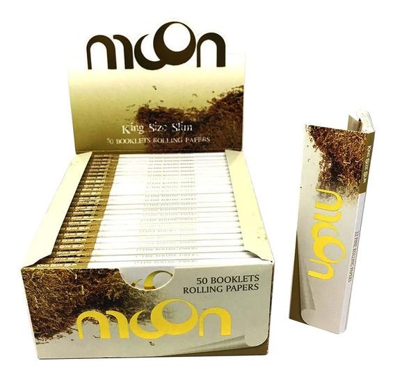 Caixa Seda Moon Brown Marrom Smoking Grande King Size Barato