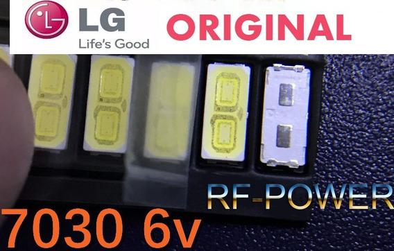 Kit 10 Pçs Led Smd 7030 6v 1w Lg Panasonic Philco Philips