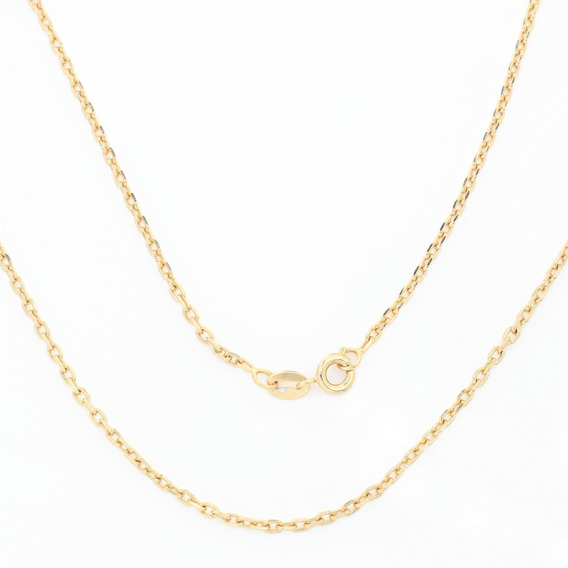 Corrente Malha Cartier 55cm Folheada A Ouro 4027