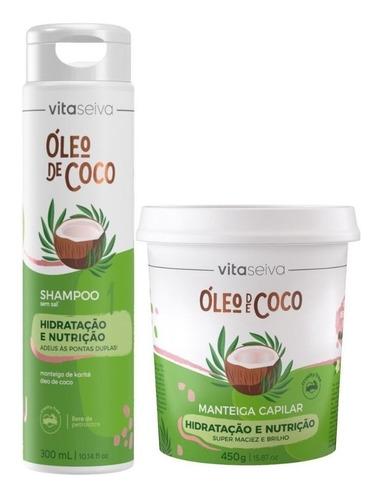 Kit Mega Hidratação E Nutrição Oleo De Coco Vs