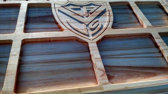 Tabla Para Picadas Con Escudo De Velez