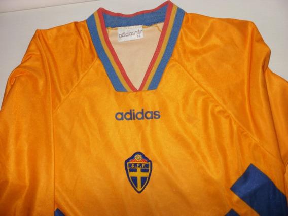 Camiseta Selección Suecia adidas 1994 Talle 4 Manga Larga