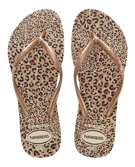 Ojotas Havaianas Slim Animals Mujer Mr/ng